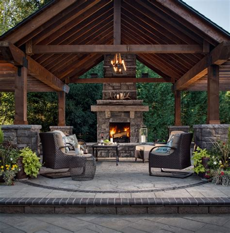50 Marvelous Rustic Outdoor Fireplace Designs For Your