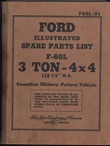 Original Ford Cmp Illustrated Spare Parts List F60 3ton