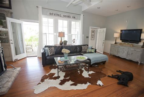 Cow Hide Rugs Family Room Traditional With Acrylic Coffee