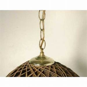 Brown hippie vintage hanging ceiling light rattan swag lamp