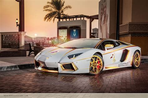 Lamborghini Car : Meet The One-off Gold Plated Lamborghini Aventador