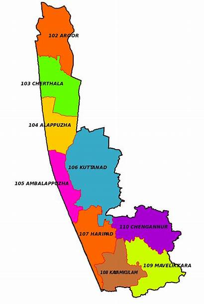 Map Kerala District Alappuzha Constituency Election Wise