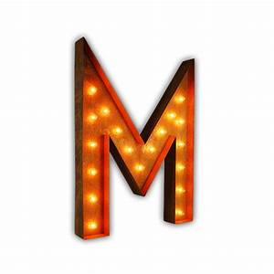 rusty 36 inch letter m marquee light by vintage marquee lights With 36 inch marquee letters
