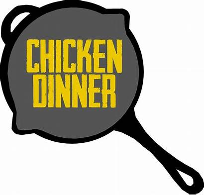 Chicken Dinner Pubg Pan Clipart Stickers Redbubble