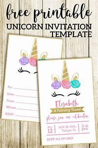 Free Printable Unicorn Invitations Template