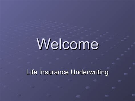 We did not find results for: Life Insurance Underwriting