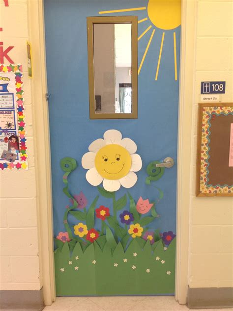 Spring Classroom Door Ideaa Garden Of Happy Flowers You