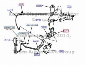 New Oem Power Steering Pump To Booster Pressure Hose 6 8l V10 2003