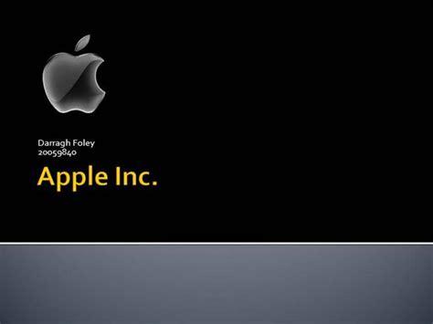 Apple Inc Powerpoint Template by My Presentation On Apple Inc Authorstream