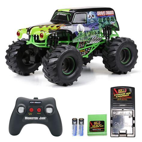 monster jam rc trucks for sale amazon com new bright 61030g 9 6v monster jam grave