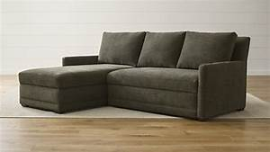 Sofa beds and sleeper sofas crate and barrel for Sectional sofa bed crate and barrel
