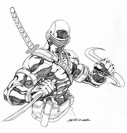 Snake Eyes Deviantart Joe Gi Sketch Poses