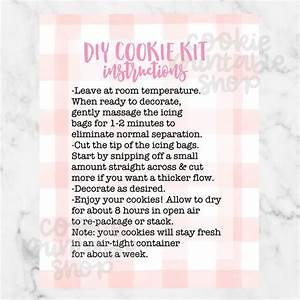 Diy Cookie Kit Instructions Printable Card