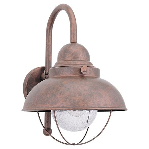 copper wall sconces sea gull lighting sebring 1 light weathered copper outdoor