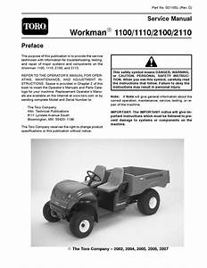 02110sl Pdf Workman 1100  1110  2100  2110  Rev D  Aug  2007