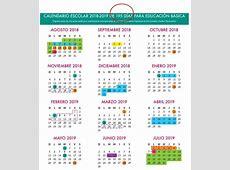 Este es el calendario escolar 20182019