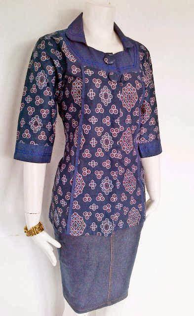 koleksi baju batik kerja wanita modern terbaru