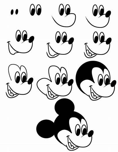 Mickey Mouse Drawing Draw Step Cartoon Disney