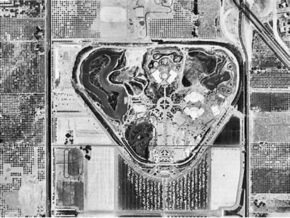 Disneyland 1955 Aerial Orange Anaheim County Disney