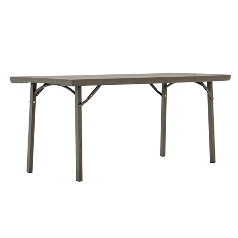10 ft folding table lifetime 6 ft almond adjustable height folding table
