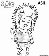 Coloring Sing Porcupine Pages Printable sketch template