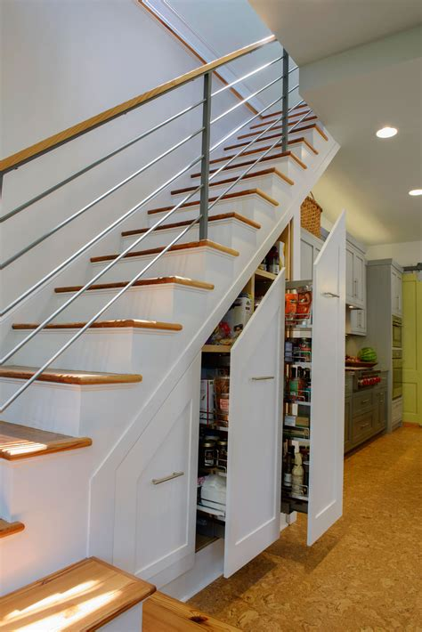 stairs kitchen storage 11 great storage ideas for the wasted space beneath your 6569