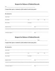 Request Medical Records Release Form