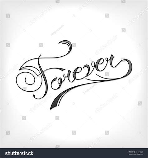 Forever Tattoo Artistic Font Stock Vector 42401023