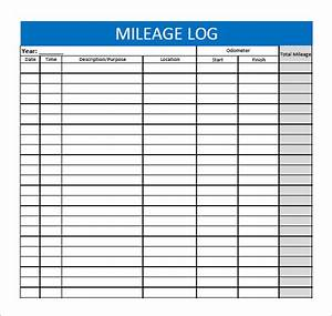 13 sample mileage log templates to download sample templates With mileage calendar template