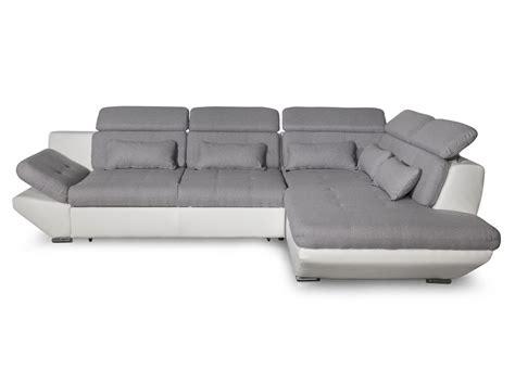 canape angle bi matiere canapé convertible avec tiroir bi matière gris clair