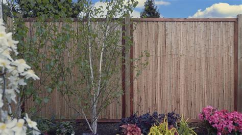 garden screening bamboo how to install garden screening