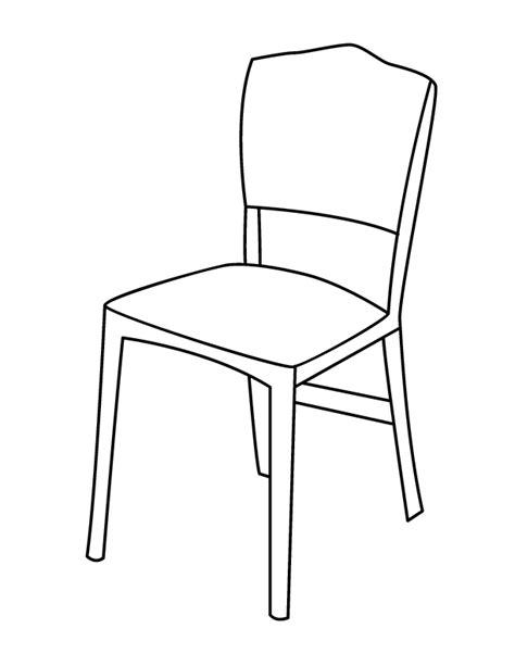 dessin chaise chair coloring page getcoloringpages com