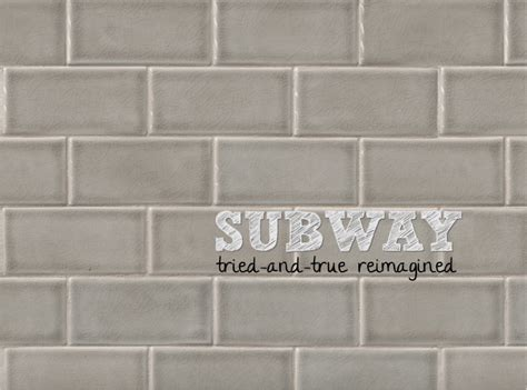 dove gray 3 x 6 quot handcrafted glazed ceramic tile