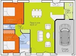 exemple plan maison plain pied plans maisons With wonderful dessiner sa maison 3d 11 plan petite maison 2 chambres plan petite maison bois 2