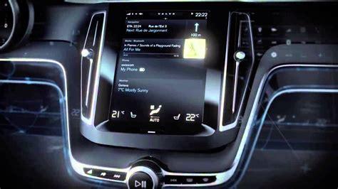 volvo concept estate dashboard  touchscreen  user