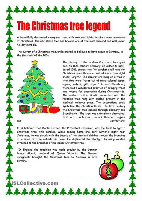 Christmas Reading Comprehension Worksheets For Middle