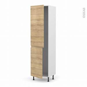 Frigo 1 Porte Gris : colonne de cuisine n 2724 frigo encastrable 1 porte ipoma ch ne naturel 2 portes l60 x h217 x ~ Melissatoandfro.com Idées de Décoration