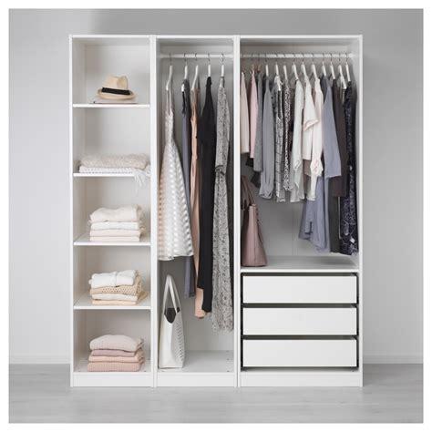 conforama catalogue chambre pax wardrobe white 175x58x201 cm ikea
