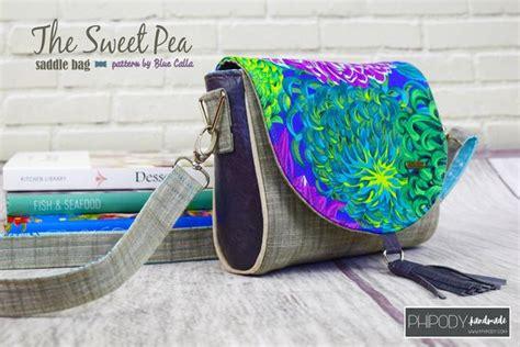 sweet pea saddle bag  sewing pattern blue