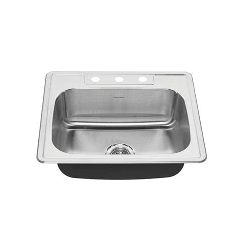 american standard stainless steel kitchen sinks american standard colony pro drop in stainless steel 25 in 9016