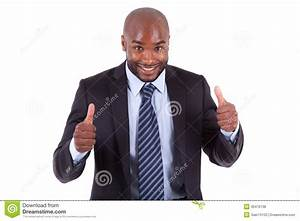 Black African American Business Man Making Thumbs Up ...