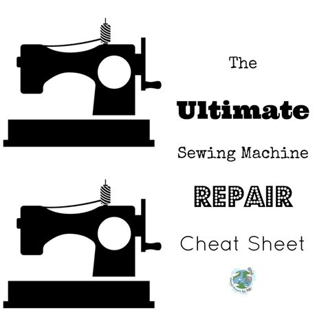 the ultimate sewing machine repair sheet allfreesewing