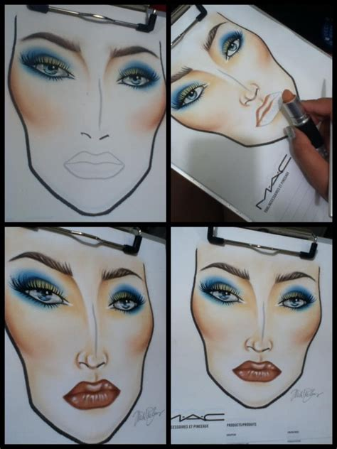 make up papier 1000 images about make up charts on