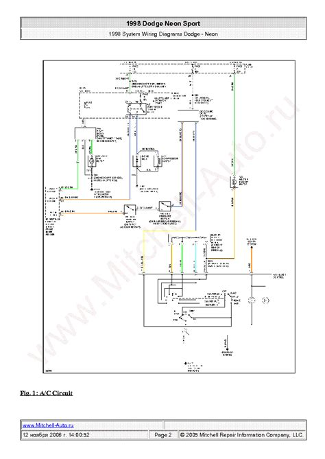 Dodge Neon Sport Wiring Diagrams Sch Service Manual