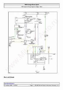Dodge Neon Sport 1998 Wiring Diagrams Sch Service Manual Download  Schematics  Eeprom  Repair