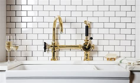 polished brass kitchen faucets 10 popular kitchen trends and ideas for 2018