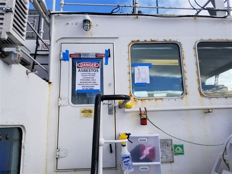 shipping vessels asbestos removal canadian haz mat
