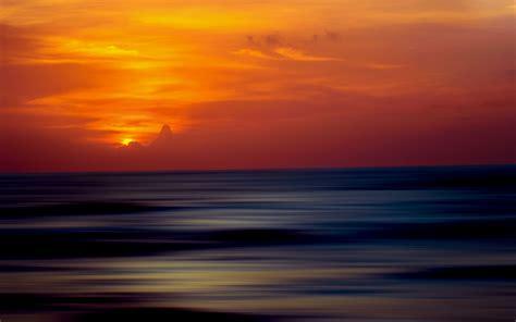 wallpaper sunset horizon  nature