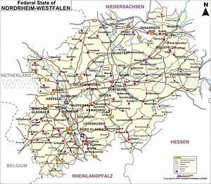 Nord Rhein Westfalen : map of nordrhein westfalen nordrhein westfalen map germany ~ Buech-reservation.com Haus und Dekorationen