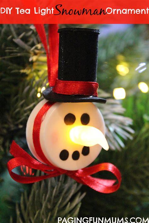 Lighted Pens by Tea Light Snowman Ornament Paging Fun Mums